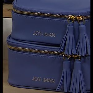 JOY&IMAN 2-piece Tassel ChicLeather Travel Pouches